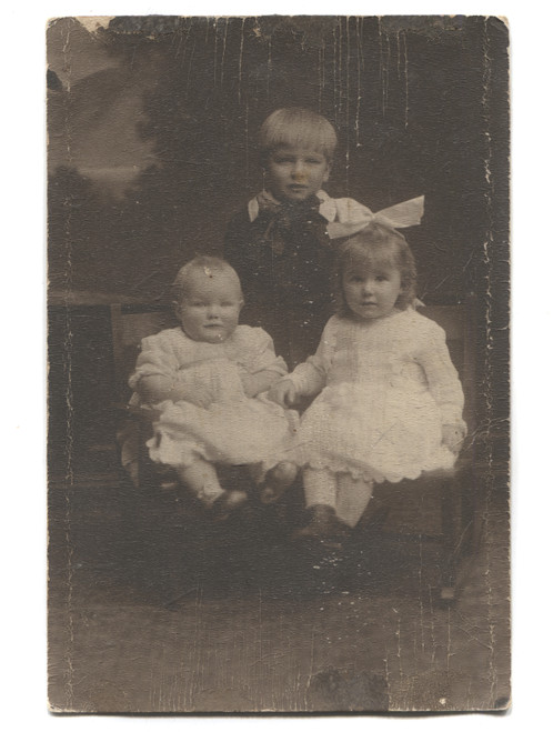Antique Named Photograph of Three Identified Ward Children - Jamestown, NY