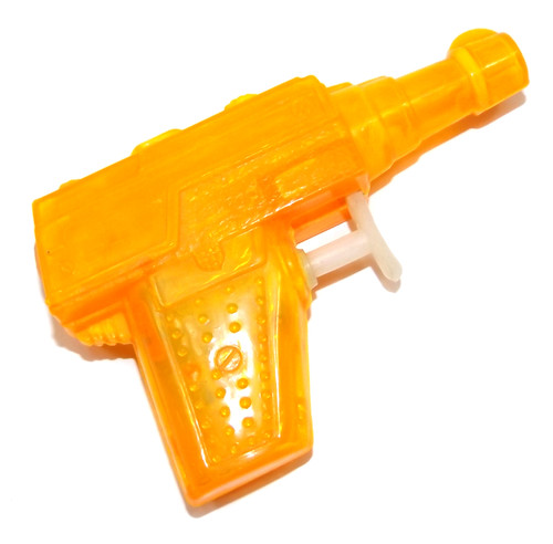 Vintage Bright Orange Semi-Transparent Plastic Miniature Squirt Gun Toy Ray Gun
