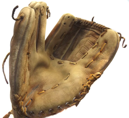 Vintage Montgomery Ward Stan Musial Right Hand Leather Mitt Baseball Glove