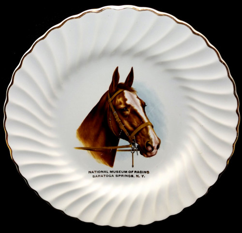 Vintage National Museum of Racing Souvenir Collector Plate Saratoga Springs, NY