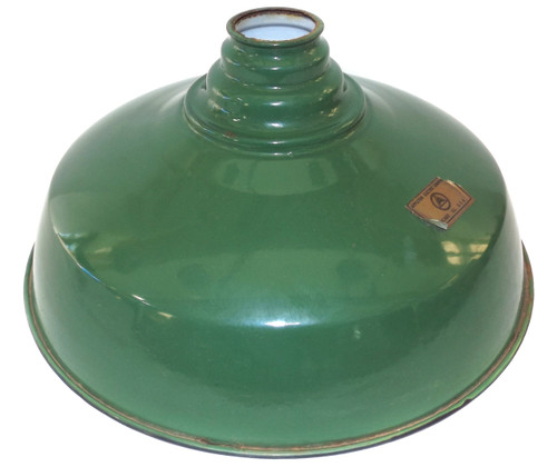 Vintage NOS Appleton Electric Green Porcelain Enamel Light Shade Gas Station Globe
