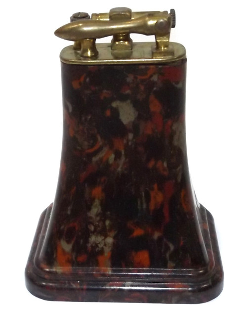 Vintage Unsigned Table Cigarette Lighter with Speckled Confietti Bakelite Body