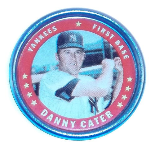 1971 Topps Danny Cater Yankees First Base Baseball Coin #14