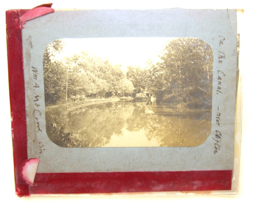 On the Canal William Alexander McCord Glass Magic Lantern Slide - Clifton, OH