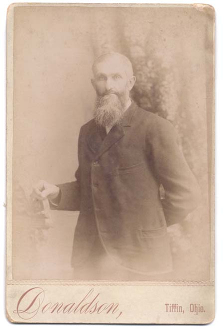 Wesley Hatton Jr. Cabinet Card Photo - Tiffin, OH