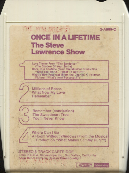 Steve Lawrence: Once in a Lifetime - The Steve Lawrence Show