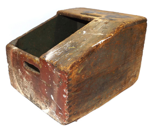 Vintage Finger-Jointed Wooden Bell System Telephone Lineman's Stool Toolbox