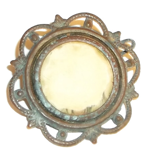 Antique Germany Made Fancy Brass Victorian Photo Pin