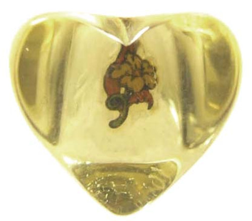 Huge Chunky Dimensional Heart Translucent Lucite Ring - Size 5 3/4