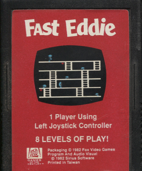 Fast Eddie Vintage Atari 2600 Video Game Cartridge