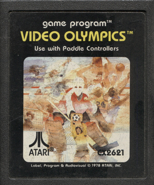 Video Olympics Vintage Atari 2600 Video Game Cartridge
