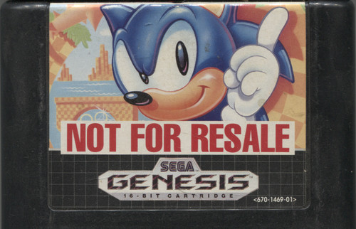 Sonic the Hedgehog Vintage Sega Genesis Video Game Cartridge