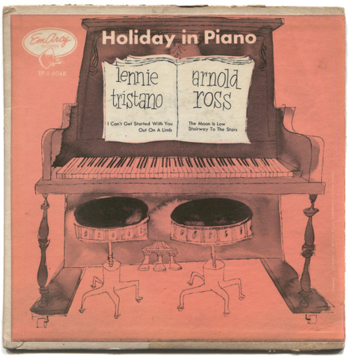 """Lennie Tristano & Arnold Ross: Holiday in Piano - 7"""" EP 45rpm Record"""