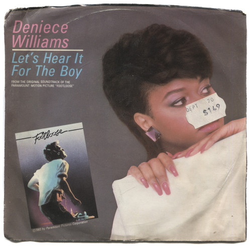 """Deniece Williams: Let's Hear It for the Boy / Instrumental - 7"""" 45 rpm Vinyl Record & Picture Sleeve"""