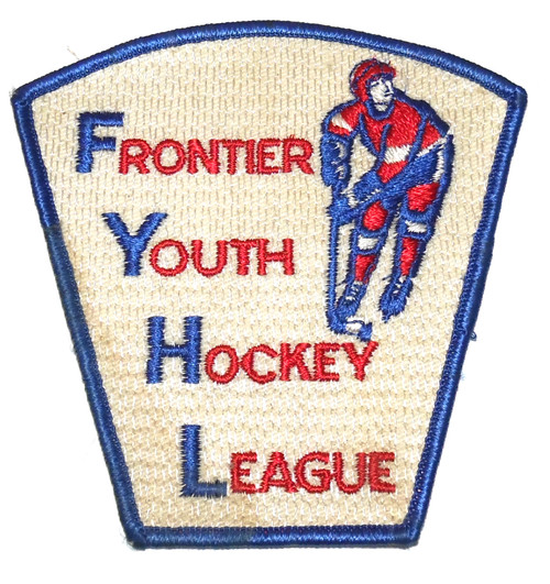 Vintage New York Frontier Youth Hockey League Embroidered Cloth Patch