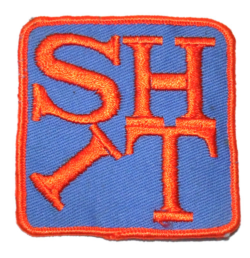 Vintage Novelty SHIT Comical Retro Rude Embroidered Cloth Patch