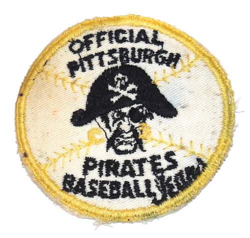 Vintage Official Pittsburgh Pirates Baseball Team Embroidered Cloth Patch
