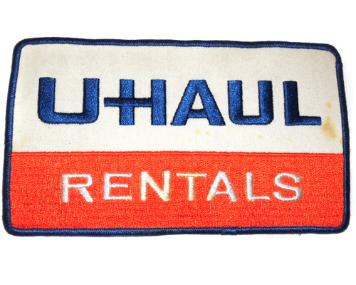 """Vintage 8"""" Long UHaul Rentals Truck Rental Company Logo Embroidered Cloth Patch"""
