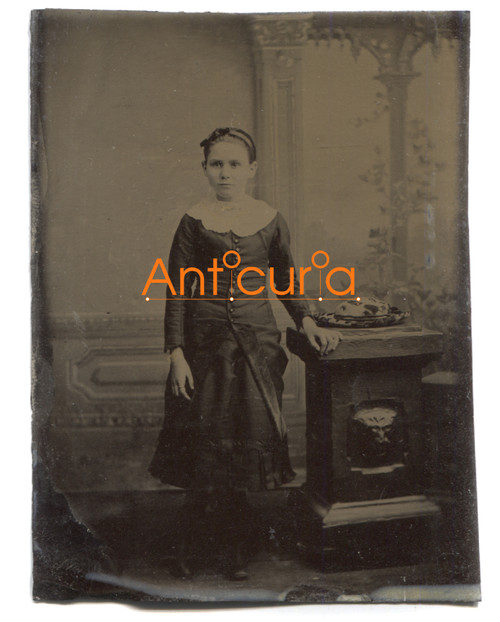 Antique Tintype Photo Named Photograph Identified as Anna Durgan (Brash)