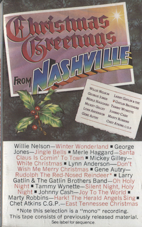 Various Artists: Christmas Greetings from Nashville - Audio Cassette Tape