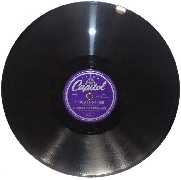 Jo Stafford & Gordon MacRae: Whispering Hope / A Thought in My Heart - 78 Record