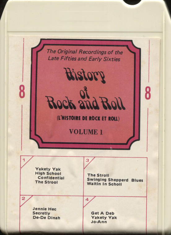 Various Artists: History of Rock and Roll, Volume 1 - 8 Track Tape