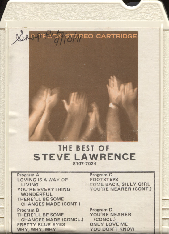 Steve Lawrence: The Best of Steve Lawrence - 8 Track Tape