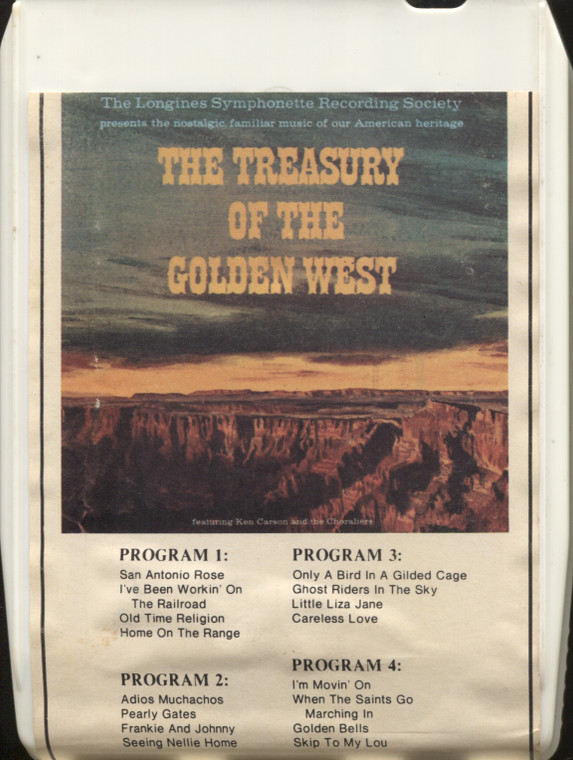 Various Artists: The Treasury of the Golden West (8T-318) - 8 Track Tape
