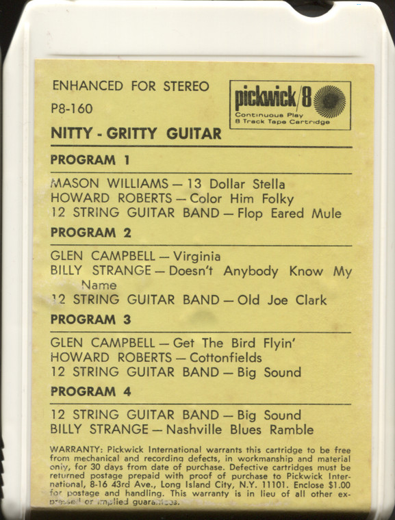 Various Artists: Nitty-Gritty Guitar - 8 Track Tape