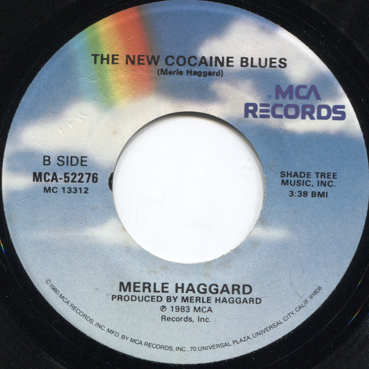 Merle Haggard: It's All in the Game / The New Cocaine Blues - 45 rpm Vinyl Record
