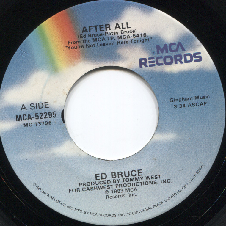 Ed Bruce: After All / It Would Take a Fool - 45 rpm Vinyl Record