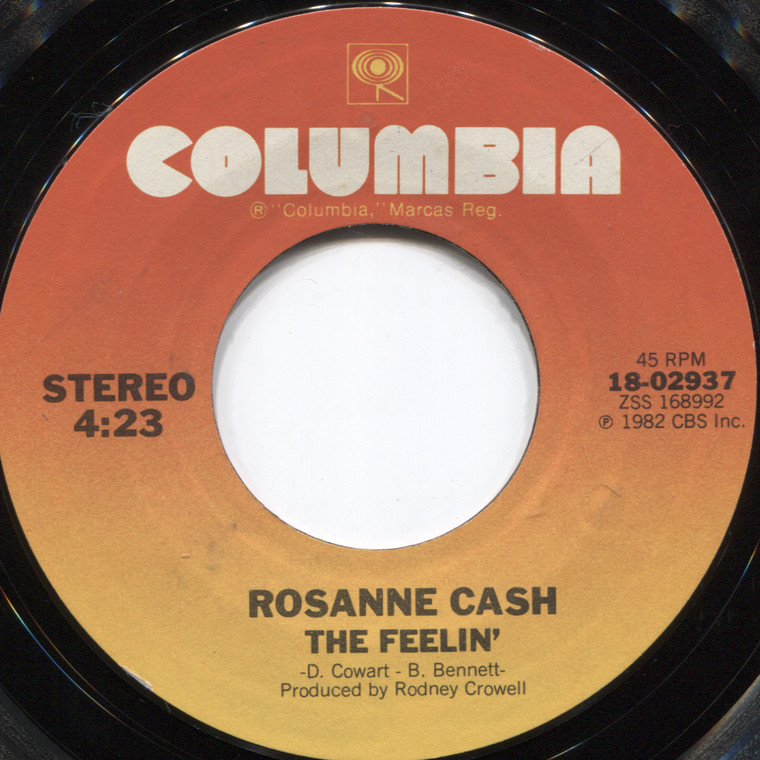 Rosanne Cash: Ain't No Money / The Feelin' - 45 rpm Vinyl Record