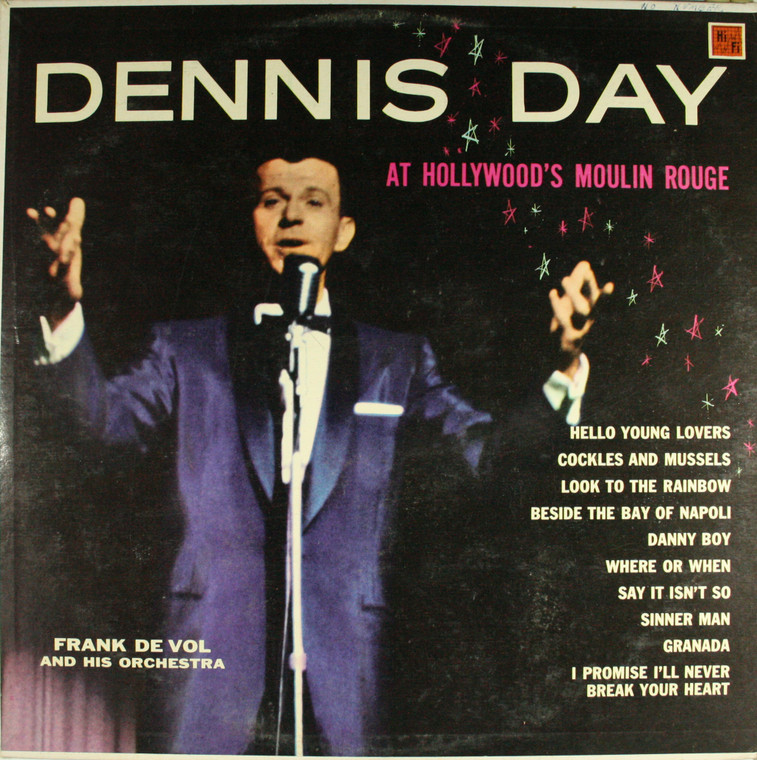 Dennis Day & Frank De Vol & Orchestra: At Hollywood's Moulin Rouge - LP Vinyl Record Album
