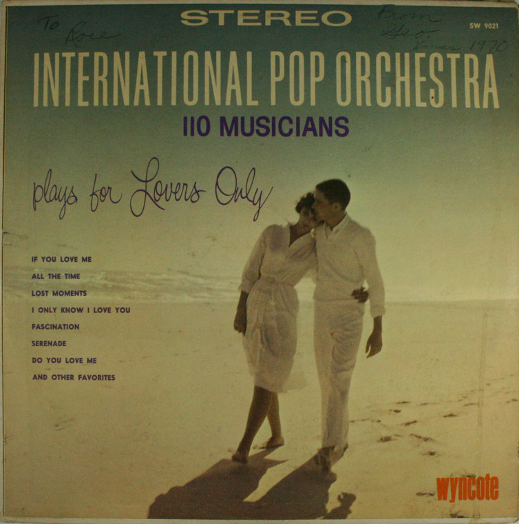 International Pops Orchestra: 110 Musicians Plays for Lovers Only - LP Vinyl Record Album
