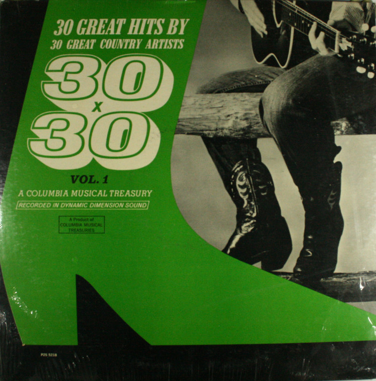 Various Artists: 30 Great Hits by 30 Great Country Artists 30x30 Volume 1 - (2 Record Set) Still Sealed LP Vinyl Record Album