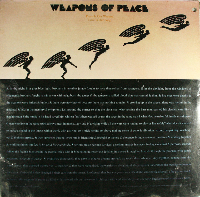 Weapons of Peace: Peace is Our Weapon Love is Our Song - Still Sealed LP Vinyl Record Album