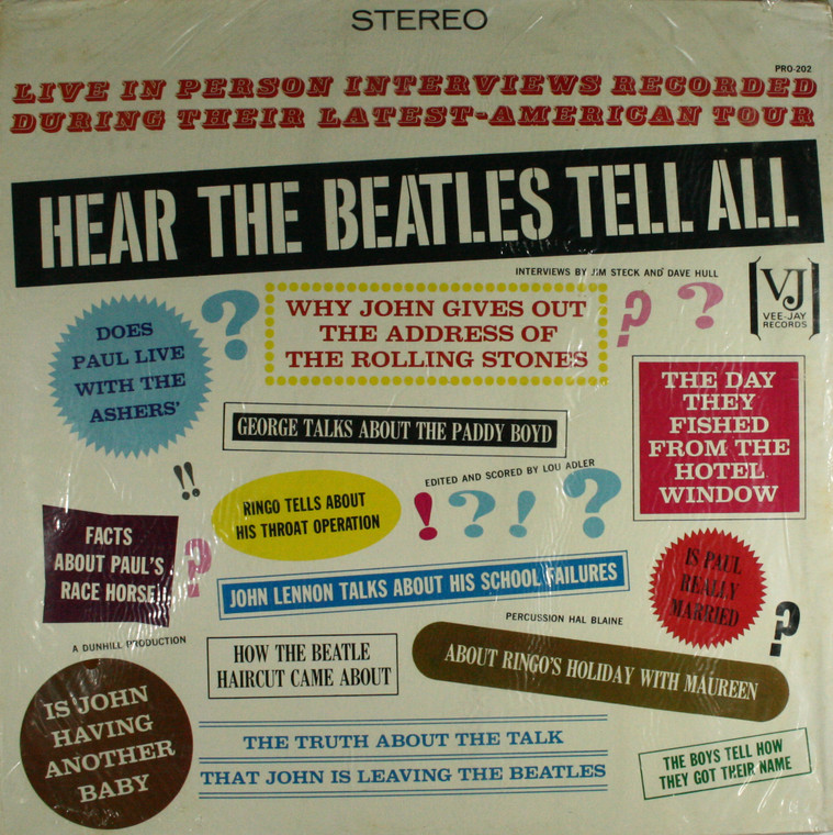 Hear the Beatles Tell All, Interviews by Jim Steck and Dave Hull - Still Sealed LP Vinyl Record Album