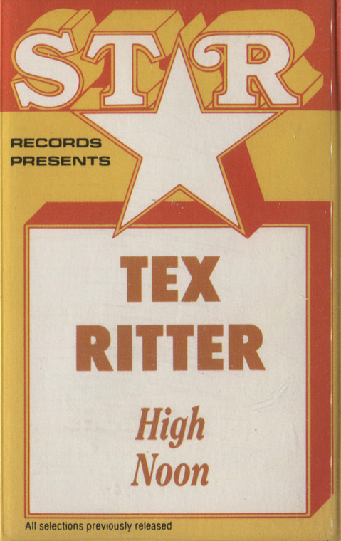Tex Ritter: High Noon - Audio Cassette Tape