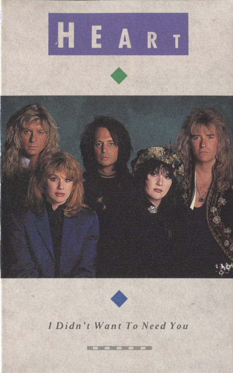 Heart: I Didn't Want to Need You / The Night - Audio Cassette Tape Single