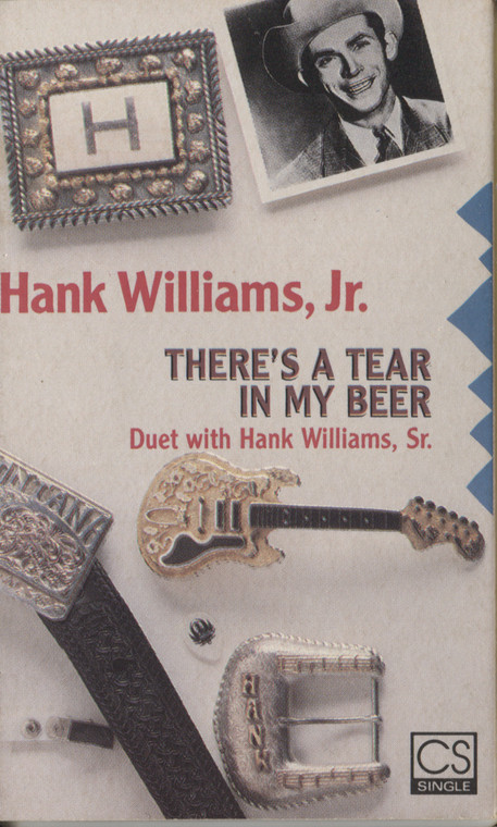 Hank Williams Jr.: There's a Tear in My Beer / You Brought Me Down to Earth - Audio Cassette Tape Single