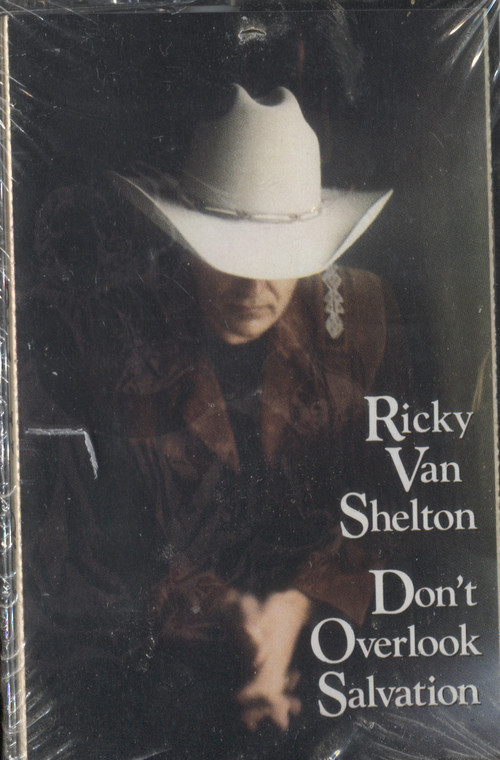 Ricky Van Shelton: Don't Overlook Salvation - Sealed Audio Cassette Tape