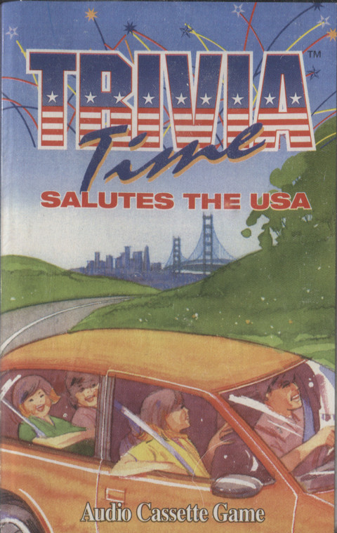 Trivia Time, Salutes the USA (Audio Cassette Game) - Sealed Audio Cassette Tape