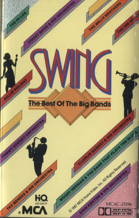 Various Artists: Swing, Best of the Big Bands - Audio Cassette Tape
