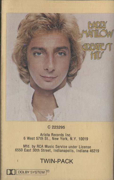 Barry Manilow: Barry Manilow Greatest Hits - Audio Cassette Tape