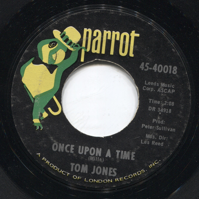 Tom Jones: I'll Never Fall in Love Again / Once Upon a Time - 45 rpm Vinyl Record