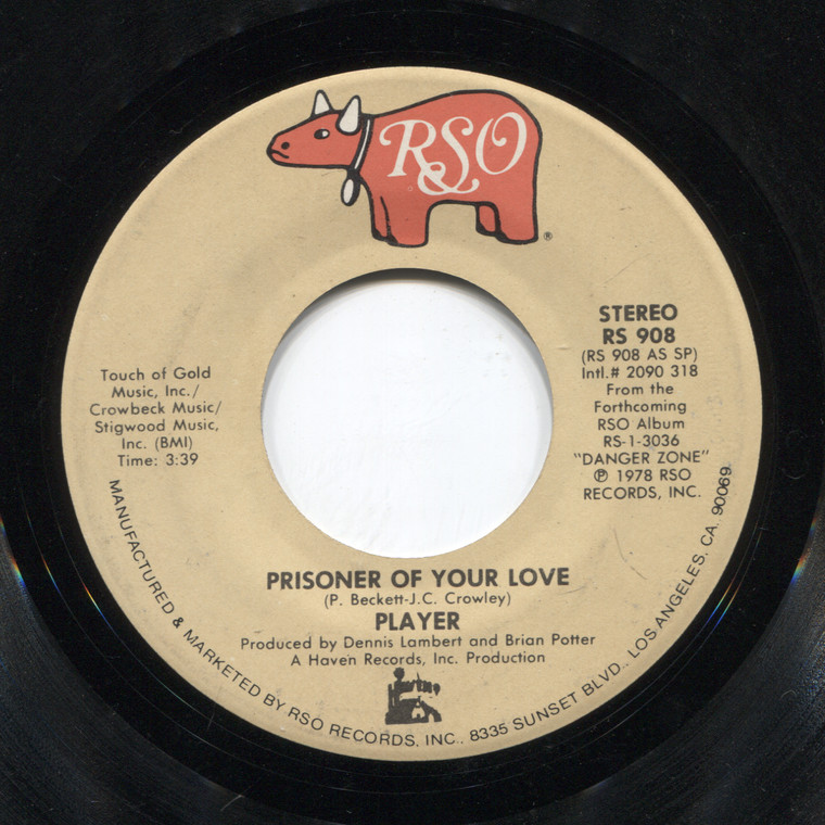 Player: Join in the Dance / Prisoner of Your Love - 45 rpm Vinyl Record