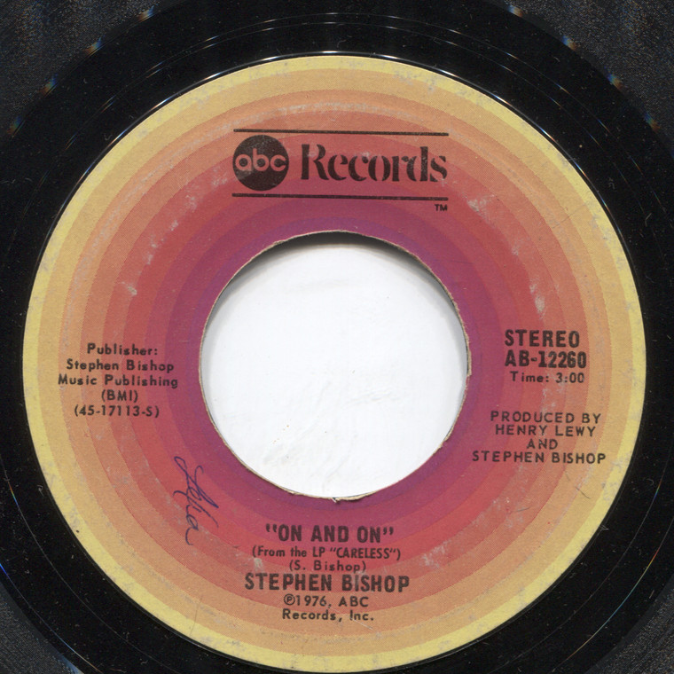 Stephen Bishop: Little Italy / On and On - 45 rpm Vinyl Record
