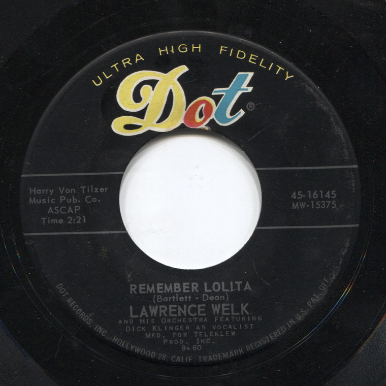 Lawrence Welk: Last Date / Remember Lolita - 45 rpm Vinyl Record