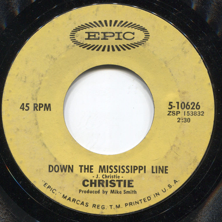 Christie: Yellow River / Down the Mississippi Line - 45 rpm Vinyl Record