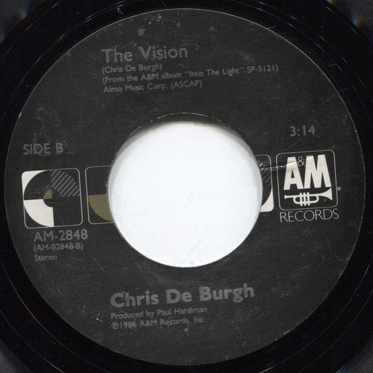Chris De Burgh: The Lady in Red / The Vision - 45 rpm Vinyl Record